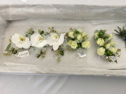 phalaenopsis orchids and spray roses