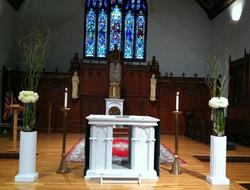 Tall ceremony vase arrangements