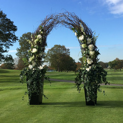 Curly Willow Archway with Flowers