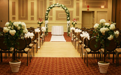 Archway, Pew Bows, Aisle Runner,