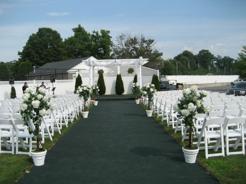 Ceremony With Topiaries