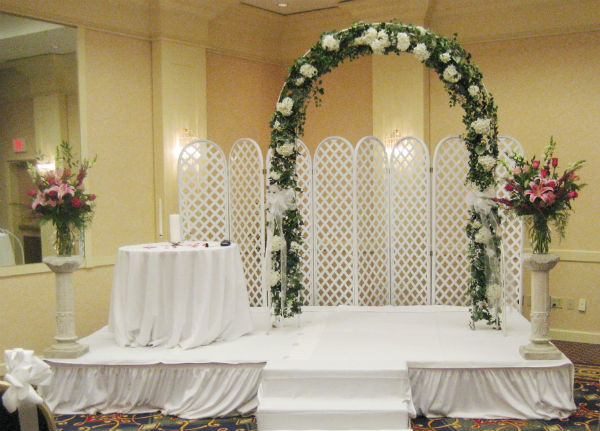 Floral Archway & Ceremony Flowers