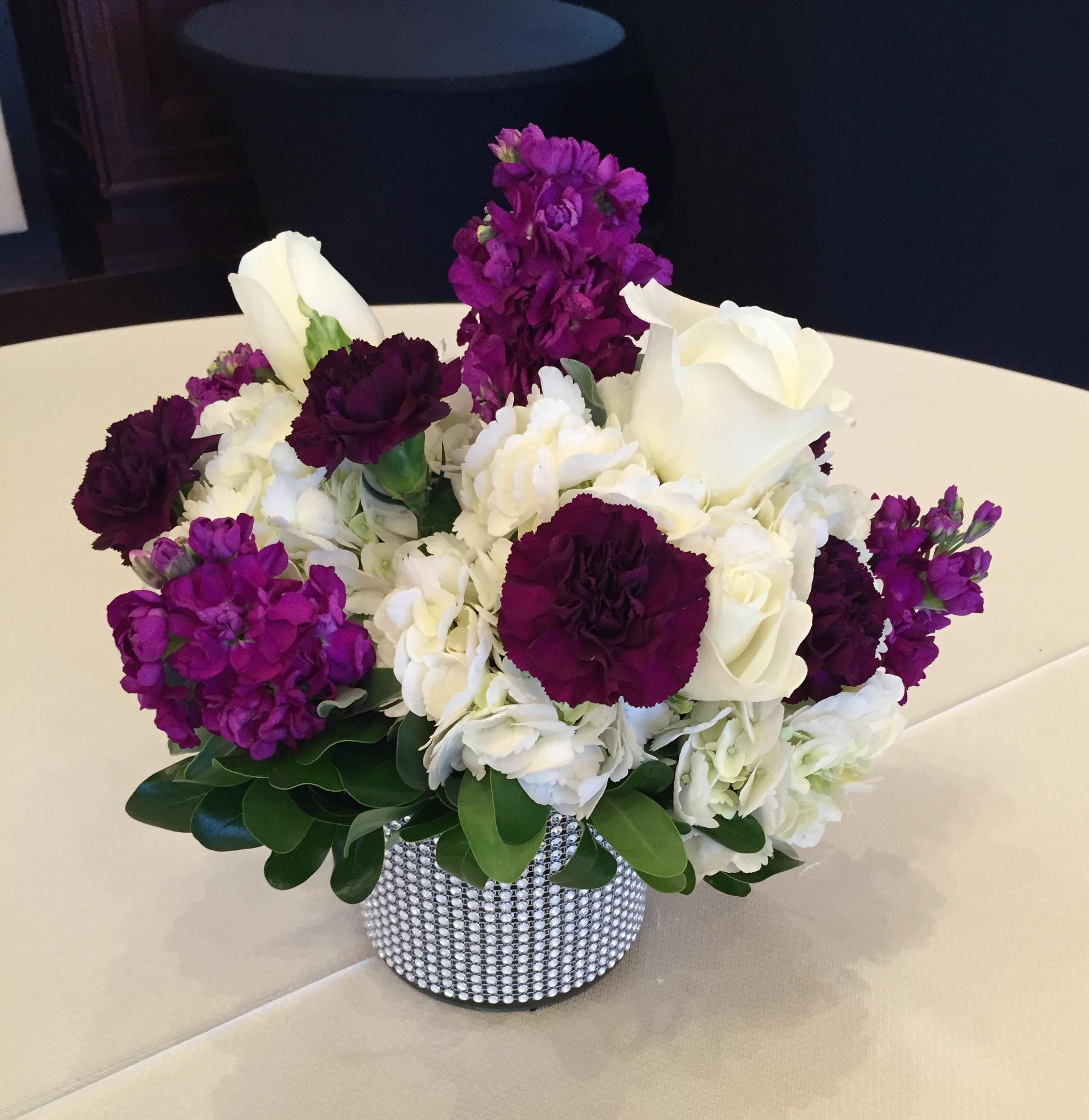 Stock, Roses, Hydrangea & Carnations