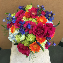 Bright mixed colored bouquet