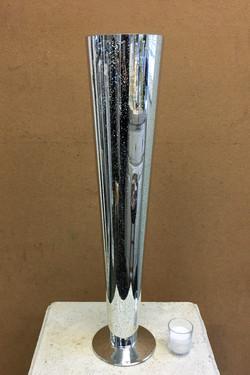 Silver Mercury Glass Pilsner