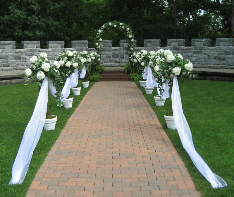 Floral Archway & Matching Topiaries