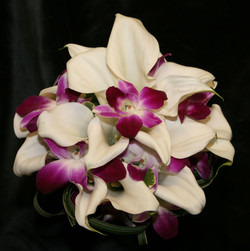 White Mini Calla Lilies with Orchids