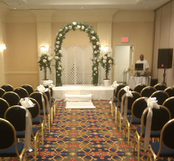 Pew Bows, Aisle Runner, Archway