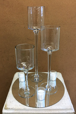 Mirror Goblets and Votives