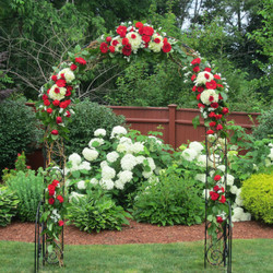 Archway With Fresh Flowers
