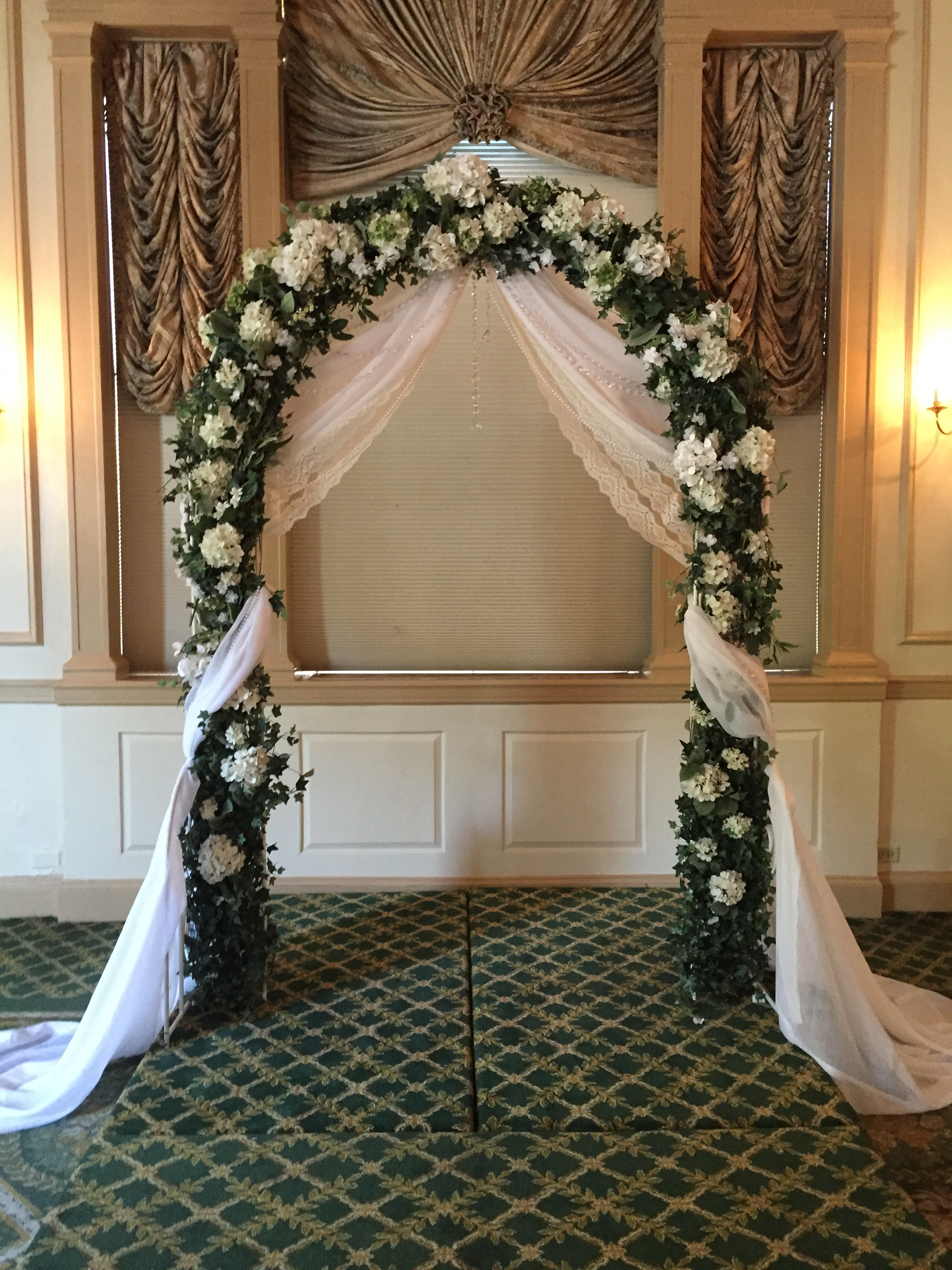 Silk Archway with Fabric