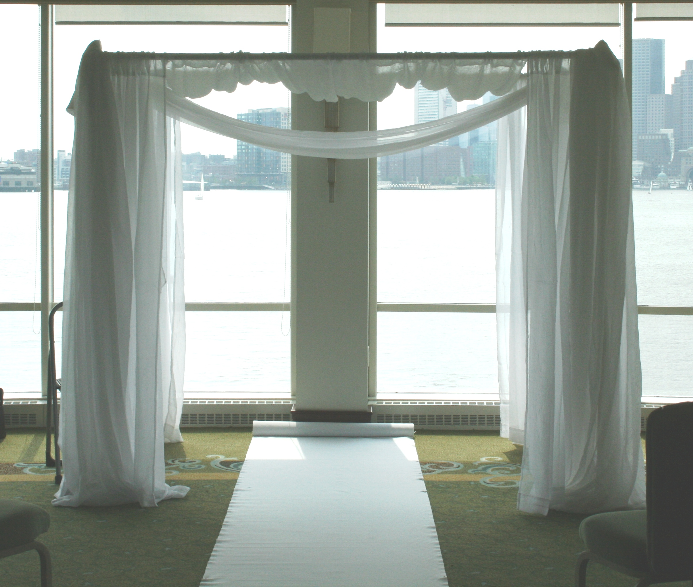 Chuppah With Fabric