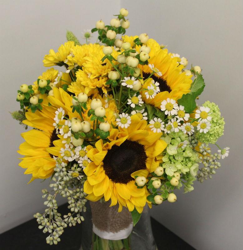 sunflower garden bouquet