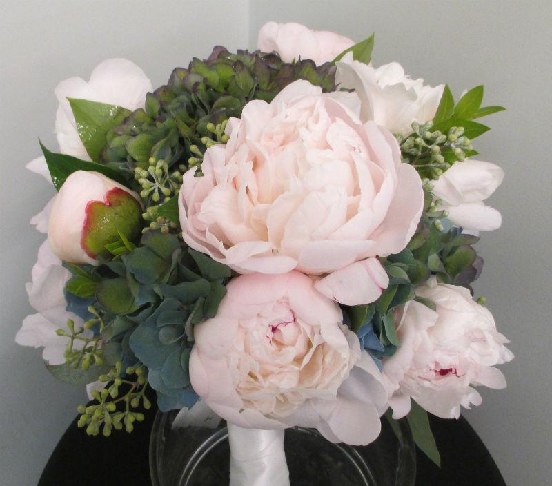 dutch hydrangea & peony bouquet
