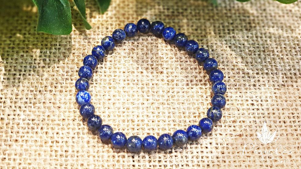 Bracelet Lapis Lazuli qualité AA • 6 mm - perles rondes