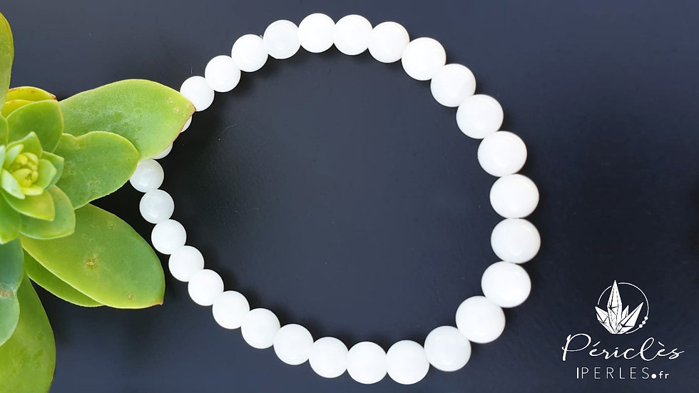 Bracelet Pierre de Lune qualité A • 6 mm - perles rondes