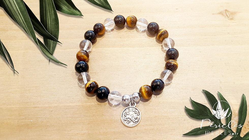 Bracelet Zodiaque LION • 8 mm - perles rondes