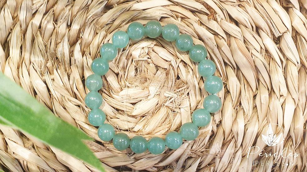 Bracelet Aventurine Verte • 8 mm - perles rondes