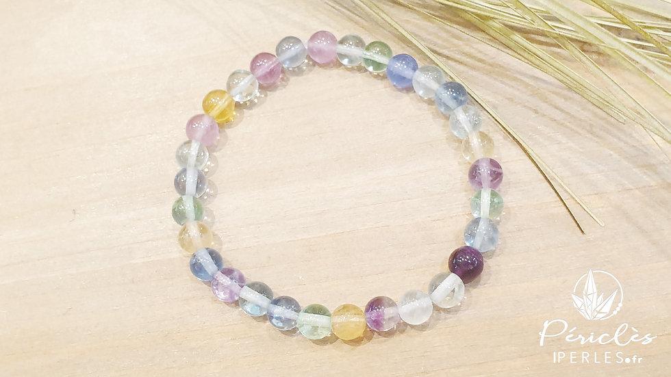 Bracelet Fluorite qualité AA • 6 mm  - perles rondes