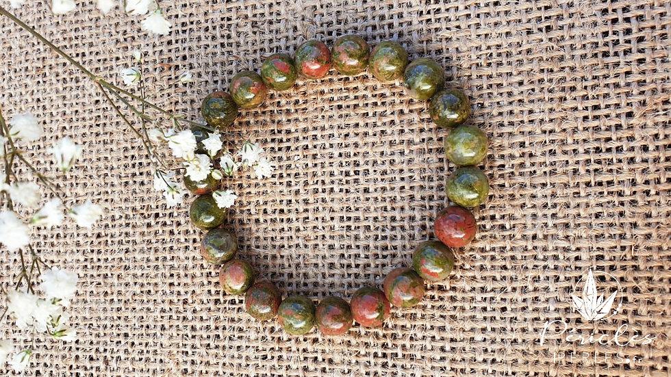 Bracelet Unakite • 8 mm - perles rondes