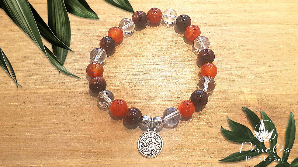 Bracelet Zodiaque SCORPION • 8 mm - perles rondes