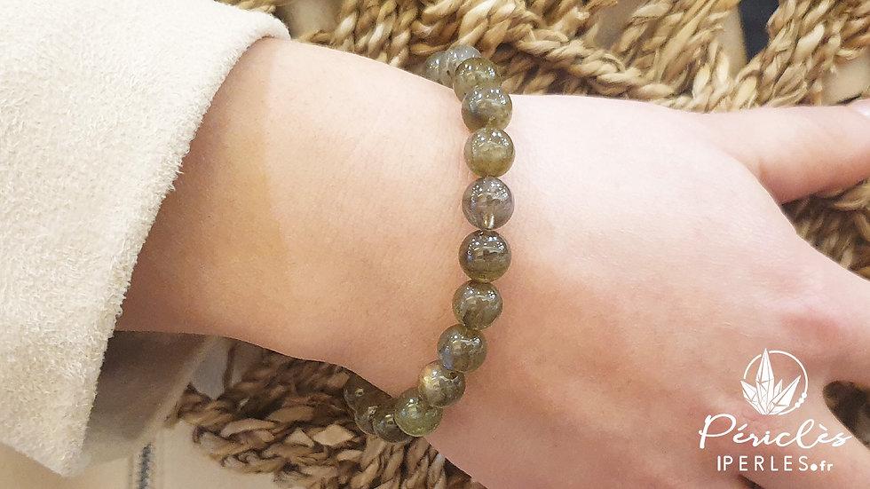 Bracelet Labradorite • 8 mm - perles rondes
