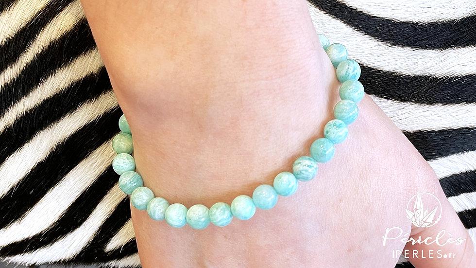 Bracelet Amazonite qualité A+ • 6 mm - perles rondes