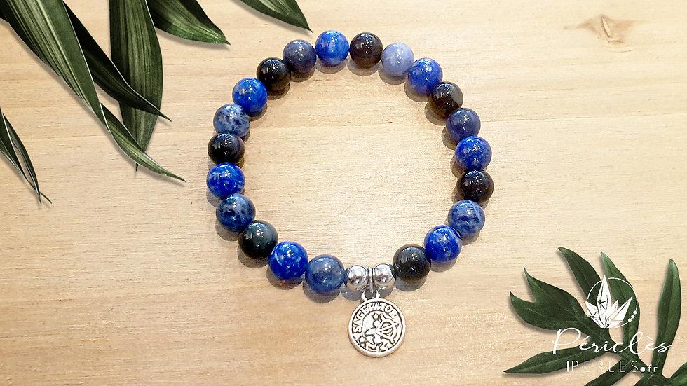 Bracelet Zodiaque SAGITTAIRE • 8 mm - perles rondes