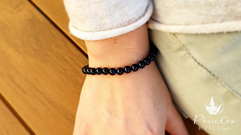 Bracelet Onyx qualité A • 6 mm - perles rondes