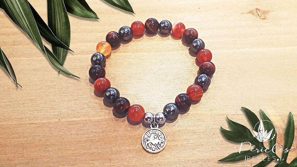 Bracelet Zodiaque BÉLIER • 8 mm - perles rondes
