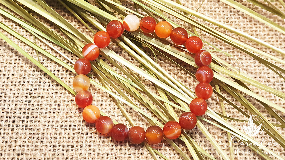Bracelet Cornaline • 8 mm - perles rondes