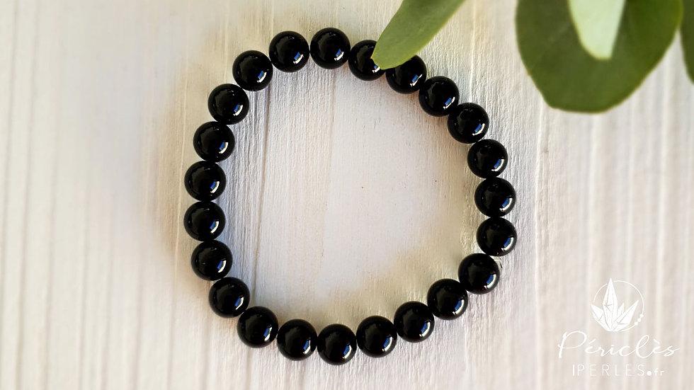 Bracelet Onyx qualité A • 8 mm - perles rondes