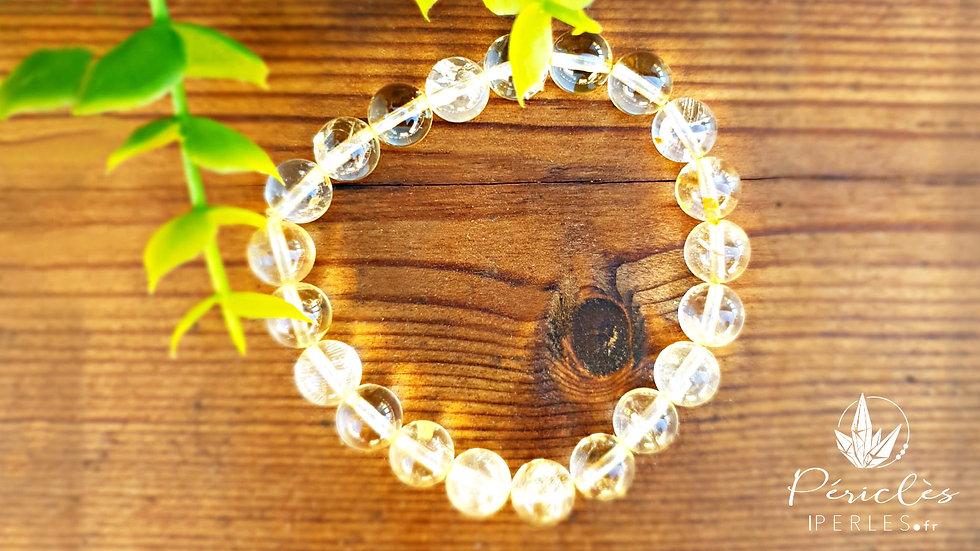 Bracelet Citrine qualité A • 8 mm - perles rondes