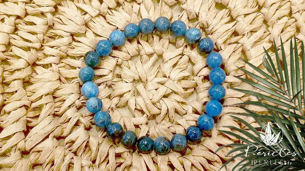 Bracelet Apatite Bleue qualité A+ • 8 mm - perles rondes