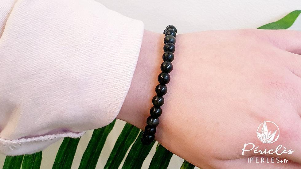 Bracelet Obsidienne Oeil Céleste qualité AA • 6 mm - perles rondes