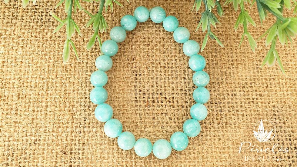 Bracelet Amazonite qualité A+ • 8 mm - perles rondes