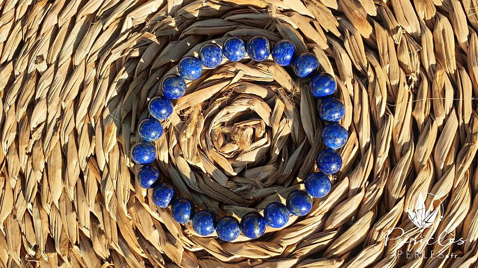Bracelet Lapis Lazuli qualité AA • 8 mm - perles rondes