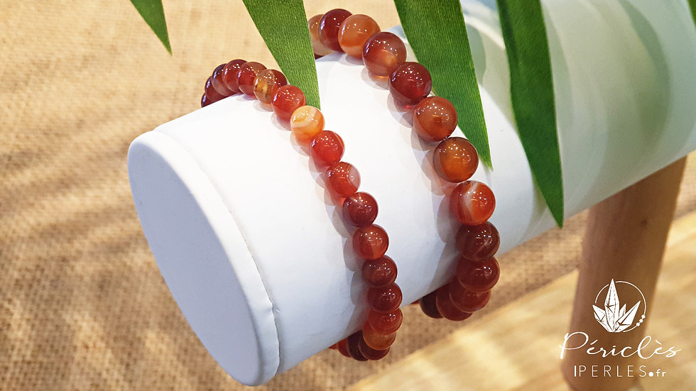 Bracelet Cornaline • 6 mm - perles rondes