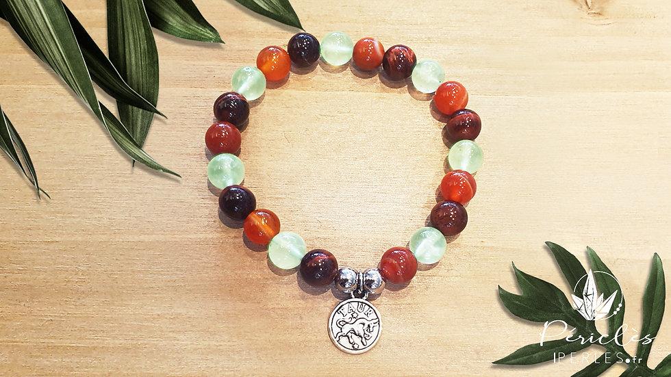 Bracelet Zodiaque TAUREAU • 8 mm - perles rondes