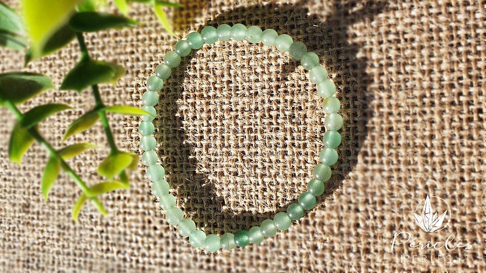 Bracelet Aventurine Verte • 4 mm - perles rondes