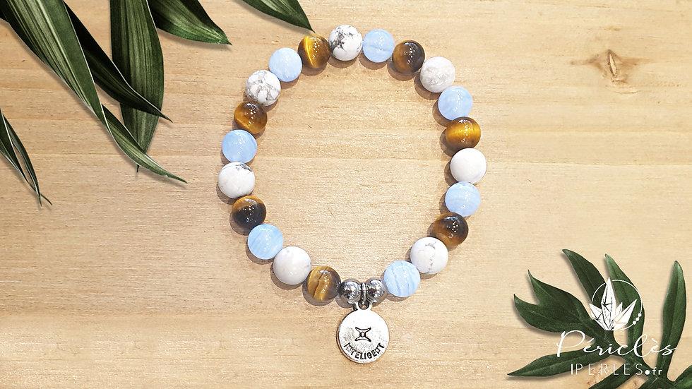 Bracelet Zodiaque GÉMEAUX • 8 mm - perles rondes