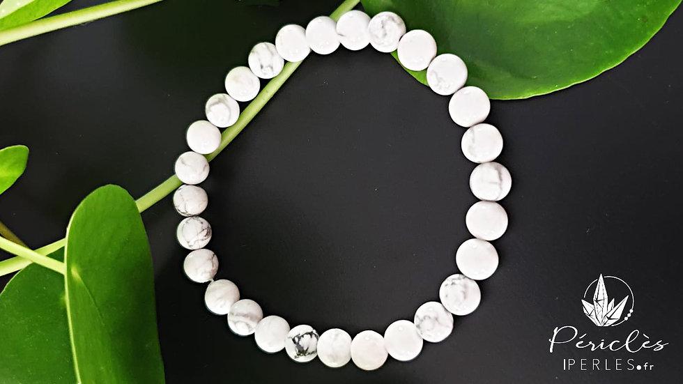 Bracelet Magnésite (Howlite) • 6 mm - perles rondes