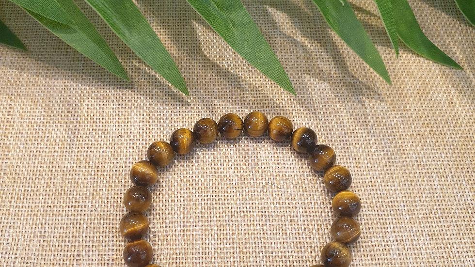 Bracelet Oeil de Tigre qualité AAA • 8 mm - perles rondes