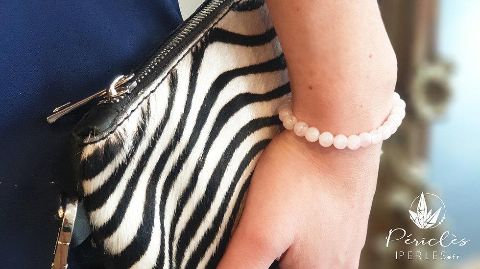 Bracelet Quartz Rose • 6 mm - perles rondes