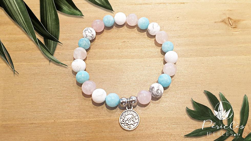 Bracelet Zodiaque VIERGE • 8 mm - perles rondes