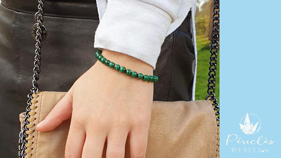 Bracelet Malachite qualité A+ • 6 mm - perles rondes