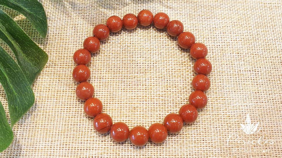 Bracelet Jaspe Rouge qualité A • 8 mm - perles rondes