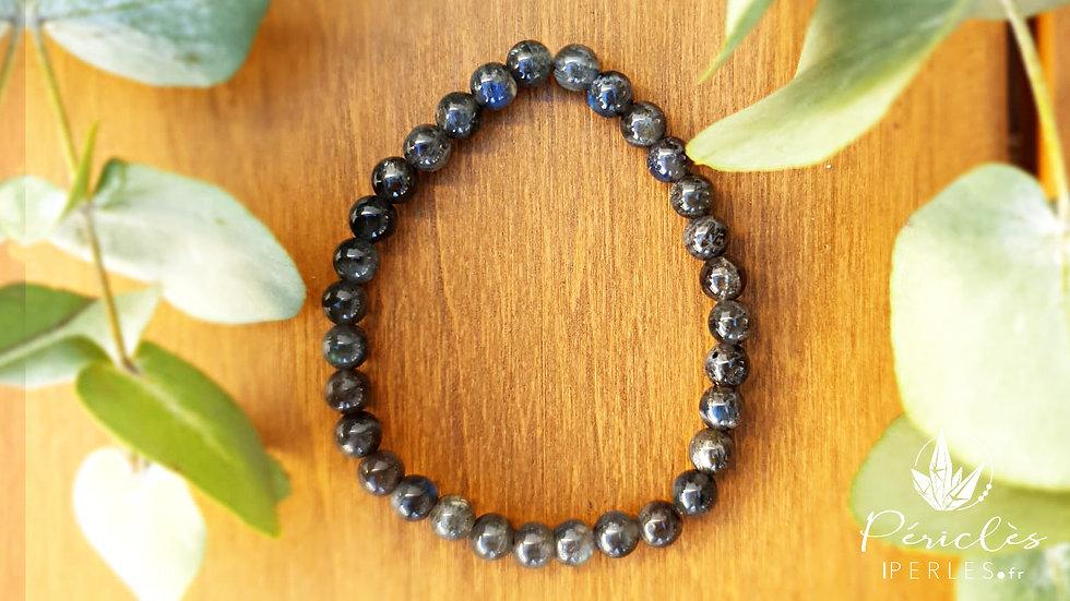Bracelet Labradorite qualité A • 6 mm - perles rondes