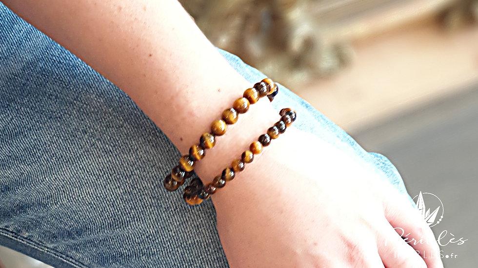 Bracelet Oeil de Tigre qualité AAA • 6 mm - perles rondes