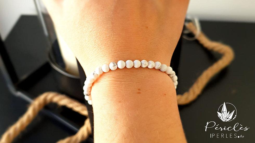 Bracelet Magnésite (Howlite) • 4 mm - perles rondes